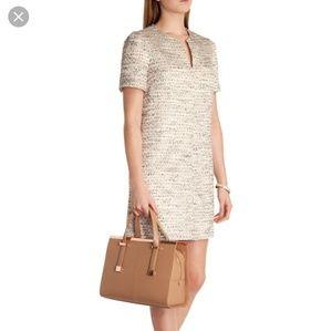 Ted Baker Clarys Metallic Tweed Dress TB Sz 1
